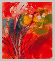 Monotype titled - Wild Fire
