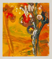 Monotype titled - Desert Flowers