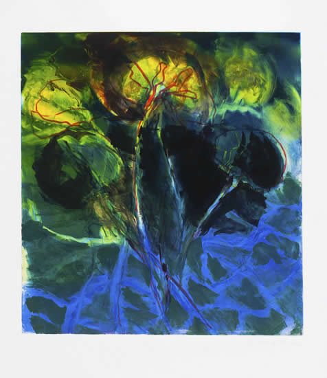 Monotype titled - Pond 20