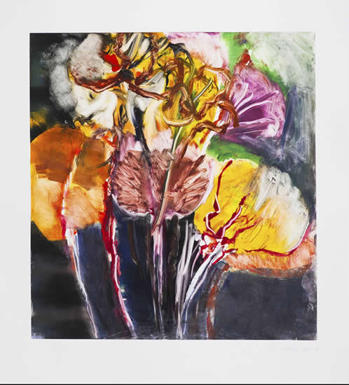 Monotype titled - Summer Garden 1