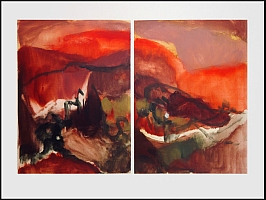 Monotype titled - Spanish Landscape 1